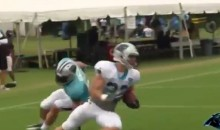 Watch Luke Kuechly Struggle to Cover Christian McCaffrey at Panthers Camp (VIDEO)