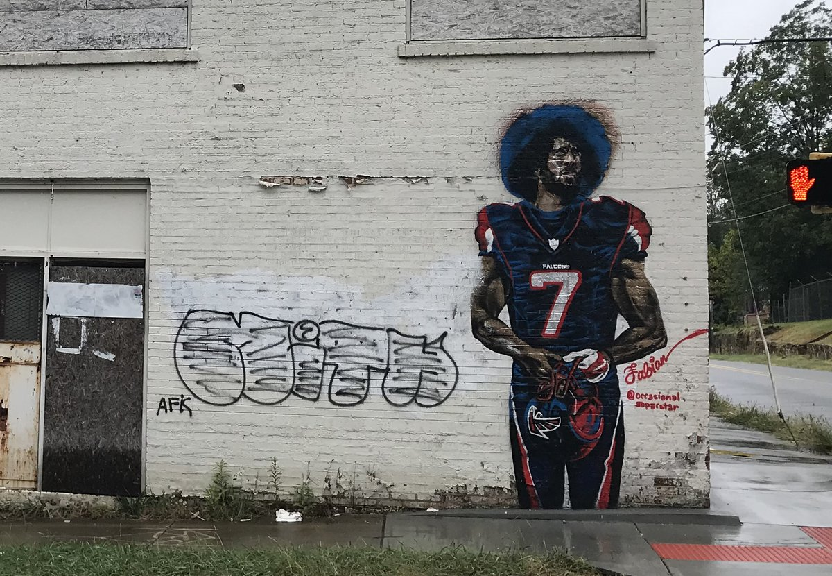 City of atlanta has a colin kaepernick mural in a falcons for Atlanta mural artist