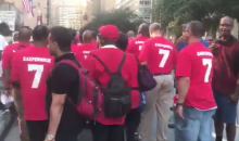 Colin Kaepernick's Fraternity Chapter Marches on NFL Headquarters (VIDEO)