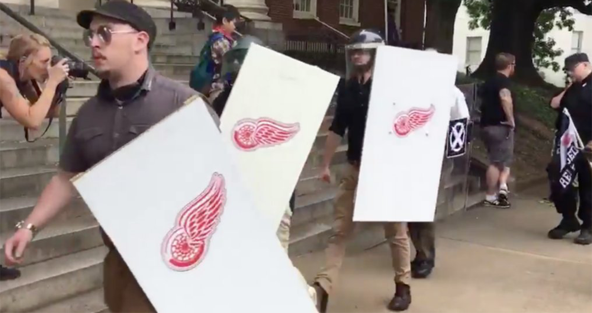 National Hockey League team condemns white supremacists using its logo