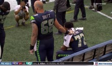 Michael Bennett Continues His National Anthem Protest With Teammate Justin Britt By His Side