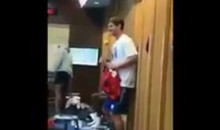 Oh God, No!: Eli Manning Joined a Giants Locker Room Dance Party (Video)