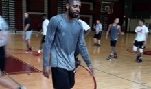 Kyrie Irving Calls Out Turnover-Prone Teammate in Pickup Game (Video)