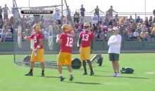 Aaron Rodgers Shows Off Incredible Accuracy With Awesome Trick Shot (Video)