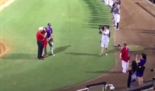 Tim Tebow Belted Out 'God Bless America' Alongside a Fan with Special Needs (Video)