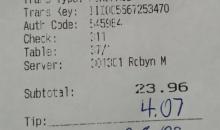 Saints Fan Trolls Falcons & Waitress With Super Bowl Loss Joke On Bill At An Atlanta Area Restaurant (PIC)