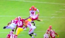 Bengals Punter Pulls a Sweet Move to Avoid a Backfield Takedown (Video)