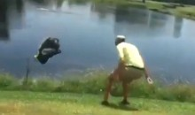 Angry Golfer, Apparently Fed Up With This Sh*t, Throws Entire Bag Into Lake (Video)