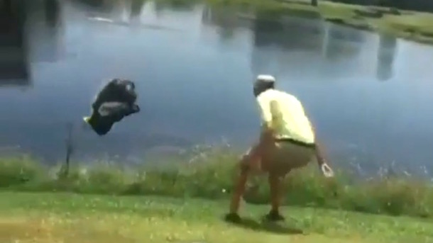Angry Golfer Throws Entire Bag Into Lake Total Pro Sports