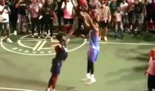 D'Angelo Russell Mobbed by Fans in Brooklyn After Drilling Game-Winning Three at Dyckman Streetball Tournament (Videos)