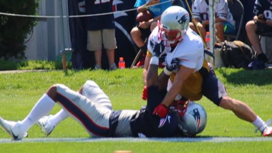 New England Patriots Edelman, Gilmore ejected from practice after fight