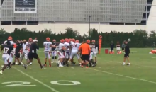 Tempers Flare At Bengals Camp After Vontaze Burfict Tackles Gio Bernard Low During Non-Tackling Drill (VIDEO)