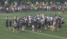 Seahawks' Germain Ifedi Leaves Camp Bloodied After Frank Clark Threw A Flying Punch At Him (VIDEO)