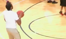 Rapper Meek Mill Shows Off His Jumper; Airballs Every Shot (VIDEO)