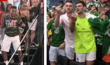 Conor McGregor's Irish Fans Cuss & Flip Off Floyd Mayweather's Kids After Weigh-in (VIDEO)