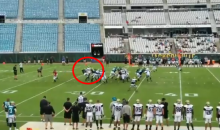 Leonard Fournette Got Absolutely Blasted By Sheldon Day At Jaguars Camp (VIDEO)