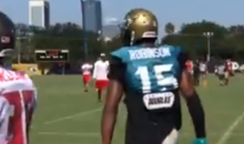 """Jags WR Allen Robinson To Blake Bortles After Terrible Pass: """"Keep That Sh*t In Bounds Bro."""" (VIDEO)"""