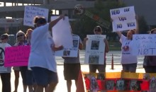 Animal Advocates Protest At Arrowhead Against Chiefs Coaching Intern Michael Vick (VIDEO)