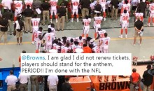 Social Media Reacts To Multiple Browns Players Kneeling During Anthem (TWEETS)
