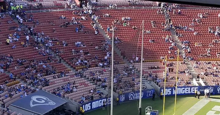 Chargers Rams Had Embarrassingly Awful Attendance At Fight For La Preseason Matchup Video Total Pro Sports