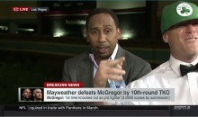 Drunk Guy Crashed ESPN's Live Set To Yell 'F*ck The Mayweathers' (VIDEO)