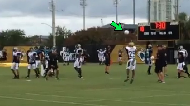 jacksonville jaguars replace footballs with volleyballs