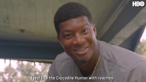 jameis winston hard knocks poor upbringing crocodile hunter with roaches