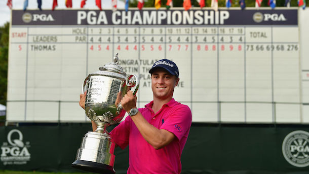 What Justin Thomas said after winning the PGA Championship