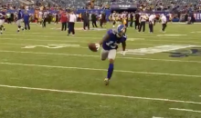 Odell Beckham Jr. Makes An Insane One-Handed Catch During Warm-ups (VIDEO)