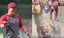 Mike Trout's 26th B-Day Celebration Got a Little….Weird (Video)