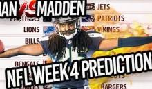 Predicting Every NFL Week 4 Winner…HUGE REBOUND WEEK! | Man vs Madden 2017