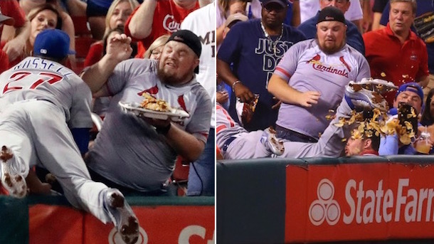 Addison Russell Destroys Cardinals Fan Nachos Delivers Replacement