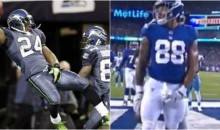 Giants' Evan Engram Busts Out Marshawn Lynch Style 'Hold My D***' Crotch Grab Celebration After TD (VIDEO)