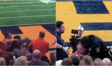 Syracuse Fans Take Turns Punching Ushers At Game Until Security Showed Up & Shut Them Down (VIDEO)