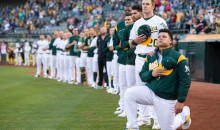 A's Bruce Maxwell Arrested After Pointing Gun at Delivery Woman