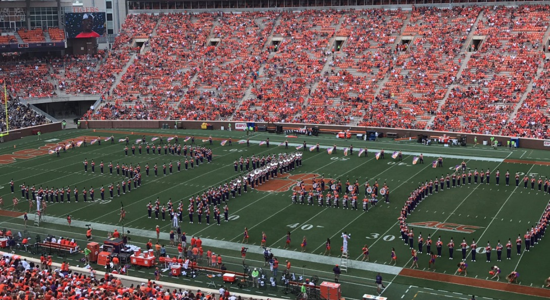 """Fiesta Bowl Ticket >> Total Pro Sports Clemson Band Trolls Ohio State By Forming """"31-0"""" During Halftime Show (PICS ..."""