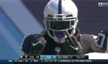 Oakland Raiders RB Marshawn Lynch Caught On Cam Flipping Off Tennessee Titans Defense