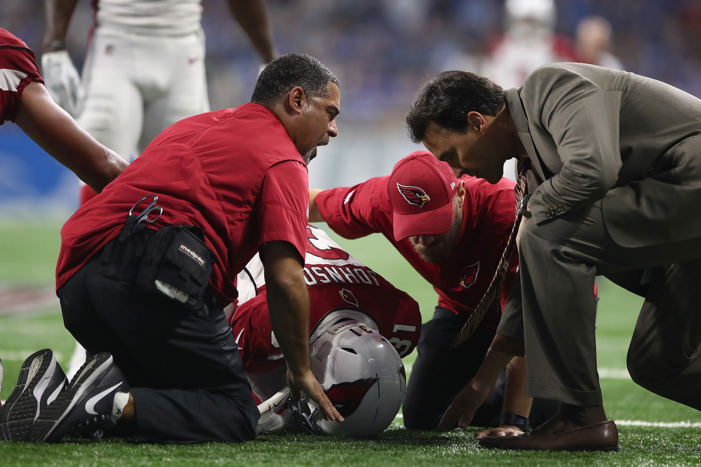 David Johnson Suffers Wrist Injury vs. Lions
