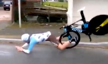 Cyclist Crashes Into Pavement at 36 MPH After Handle Bars Suddenly Break Off (Video)