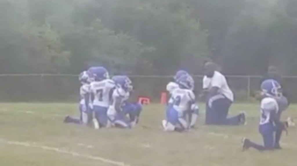 Pee Wee Football Team Kneels in Protest During The National Anthem (VIDEO)