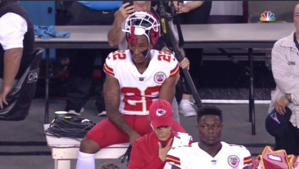 Peters Kansas City >> Kansas City Chiefs Marcus Peters Sits During National Anthem Video