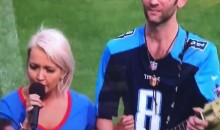 Tennessee Titans National Anthem Singer Meghan Lindsey Takes a Knee (VIDEO)