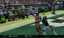 Odell Beckham With Another Ridiculous One-Handed TD Catch On His Shoulder (VIDEO)