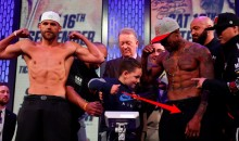 Watch Billy Joe Saunders 7-Year-Old Son Punch, Kick Willie Monroe Jr's Groin During Weigh-in (VIDEO)