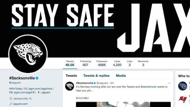 jacksonville jaguars twitter trolls texans sacksonville