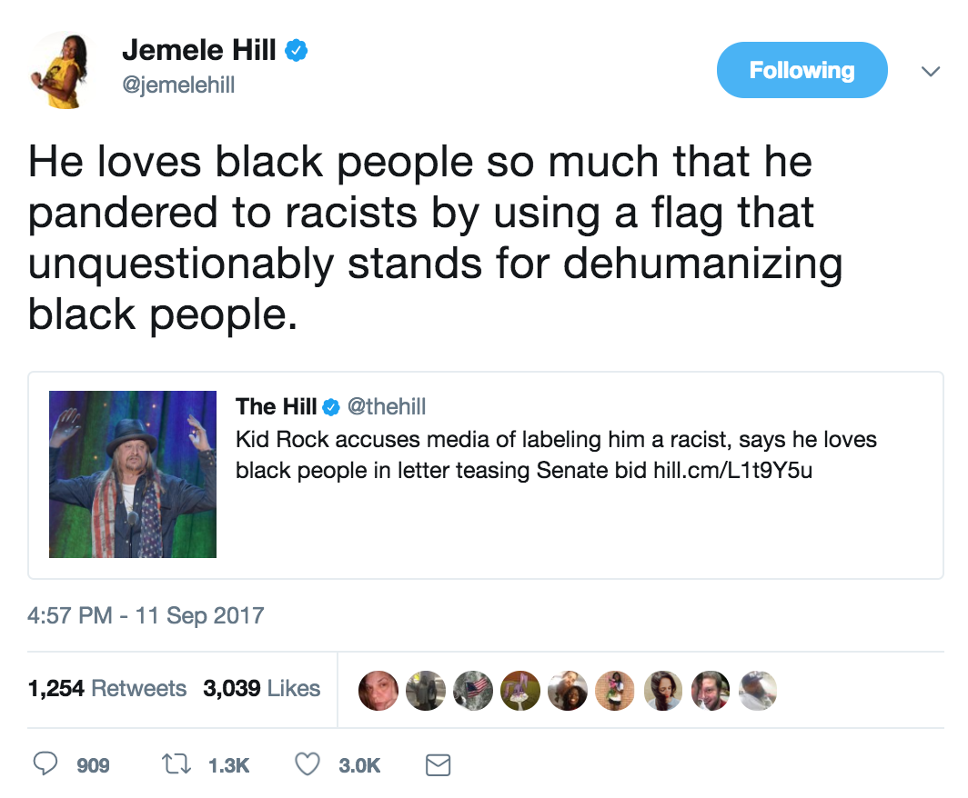 Jemele Hill's tweets on 'white supremacist' Donald Trump 'inappropriate'