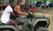 LSU RB Derrius Guice Flips ATV In Terrifying Stunt Gone Wrong (Video)