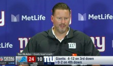 Ben McAdoo Throws Eli Manning Under the Bus After 24-10 Loss to Lions (Video)