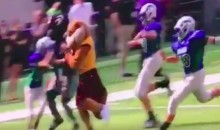 Minnesota Golden Gophers Mascot Straight-Up Steamrolled a Kid During Vikings Halftime Game (VIDEO)