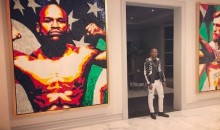 Floyd Mayweather Has a Giant Conor McGregor Painting in His Home (PIC)